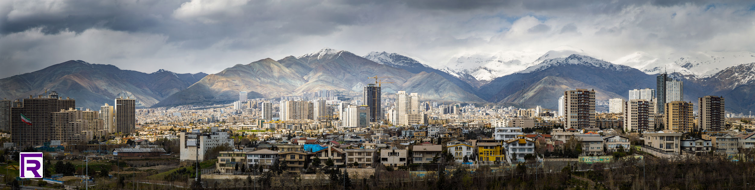 Tehran full wide image
